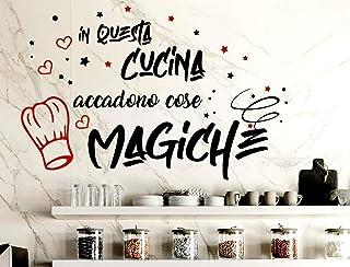 Adesivi Murali Cucina Frasi scritte italiano wall stickers kitchen decorazione casa adesivi da parete cucina adesivo muro ...
