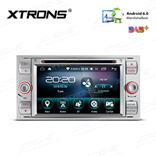 XTRONS 7 Inch Android 6.0 Quad Core 16G ROM HD Digital Multi-touch Screen Car Stereo GPS Radio DVD Player OBD2 DVR for Ford S-Max Focus II (Silver)