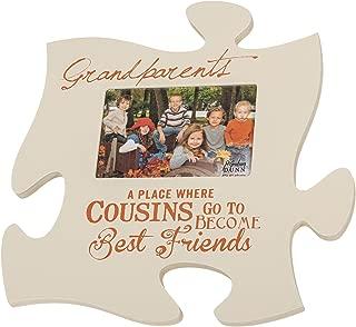 P. Graham Dunn Cousins Best Friends 4x6 Photo Frame Inspirational Puzzle Piece Wall Art Plaque