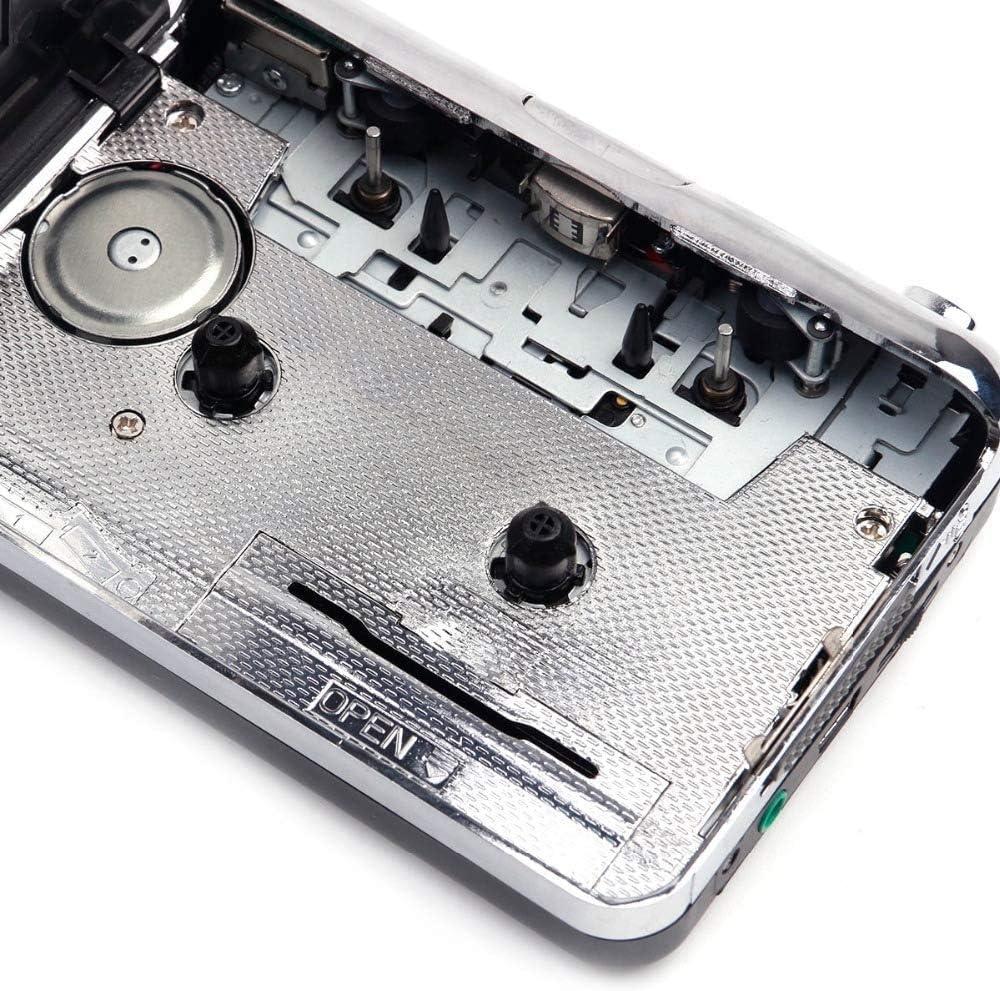 Reproductor de casete de radio,Reproductor de casete port/átil de audio de voz personal grabador,Convertir cintas de casete a convertidor de MP3