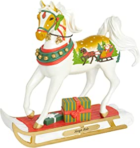 Enesco Trail of Painted Ponies Sleigh Ride Figurine, 8 Inch, Multicolor