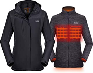 Women's 3-in-1 Heated Jacket with Battery Pack, Ski...