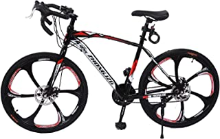 KONF Road Bikes,26in Mountain Bike, Full Suspension Road Bikes with Disc Brakes, 21 Speed Bicycle Full Suspension MTB Bike...