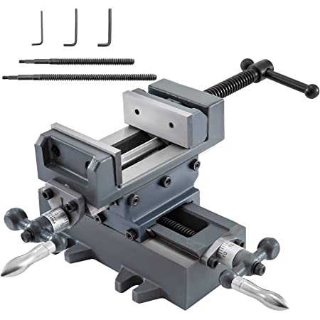 XY Axis Compound Worktable Cross Slide Bench Drilling Milling Vise 450*170mm
