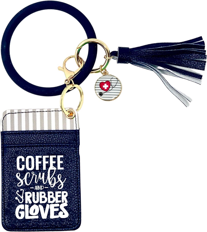 Nurse Gift- Washington Mall Max 86% OFF Nursing Accessories- Wallet Keychain Bracelet