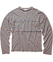 Multi Panneled Striped Long Sleeve T-Shirt