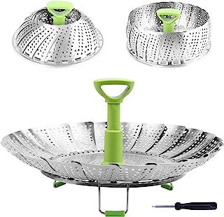 Steamer Basket Stainless Steel Vegetable Steamer Basket Folding Steamer Insert for Veggie..