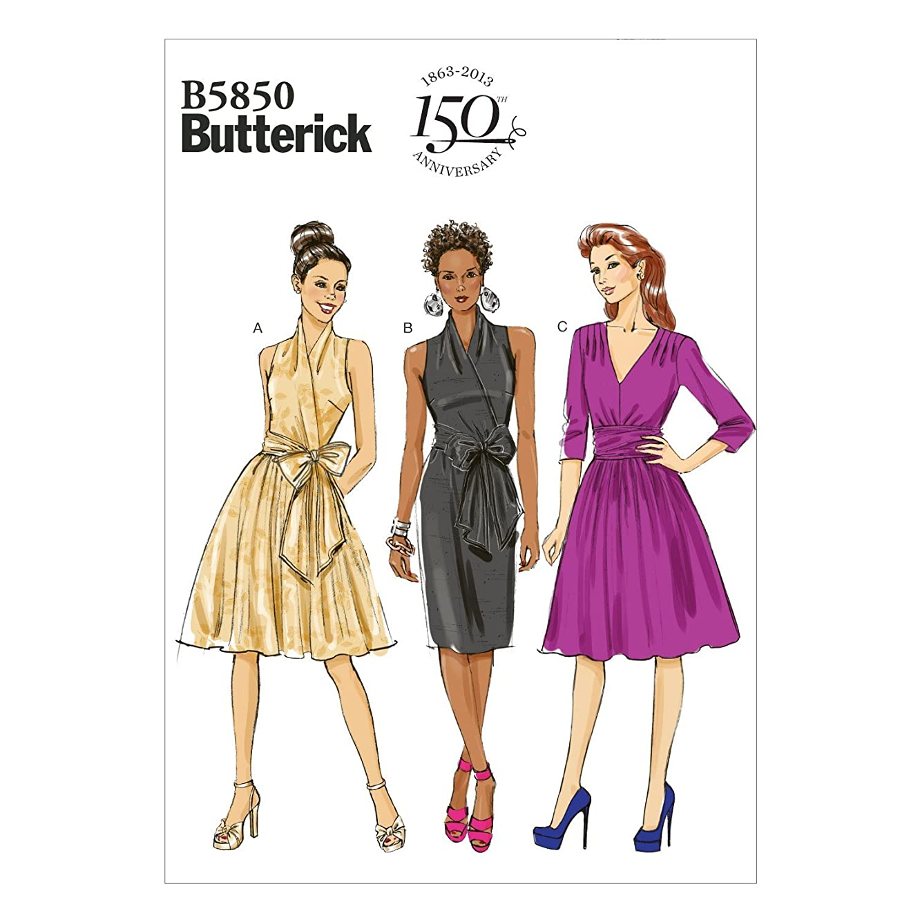 BUTTERICK PATTERNS B5850 Misses' Dress Sewing Template, Size B5