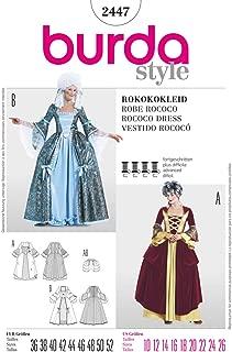 BURDA 2447 Marie Antoinette Rococo Dress HISTORICAL (SIZE 10-26) SEWING PATTERN