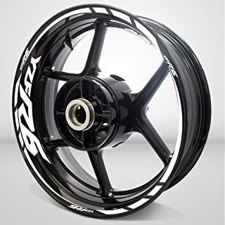 Gloss White Motorcycle Rim Wheel Decal Accessory Sticker For Yamaha YZF R6