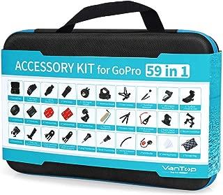 Vantop GoPro アクセサリーセット59-in-1 撮影用パーツGoPro Hero7 6 5 4 3+ 3 2 1, Hero Session, GoPro Fusion, Vantop, AKASO, APEMAN, アクションカメラ等に対応収納ケース付き
