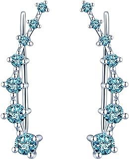 Argent Sterling 925 Femmes Bijoux Papillon grimpeur Crawlers Crochet Boucles D/'oreilles A1674