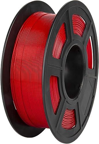 PLA Filament, PRINSFIL Filament PLA 1.75 mm, 3D Printing Materials for 3D Printer, 1 kg 1 Spool,DarkRed