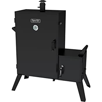 Dyna-Glo DGO1890BDC-D Wide Body Vertical Offset Charcoal Smoker,Rubbed Bronze