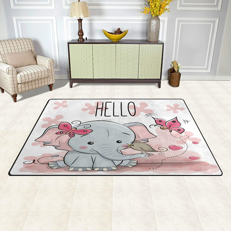 Cartoon Elephant Area Rugs 3' x for Kids 5' Bedroom Livingroom K Courier shipping Wholesale free