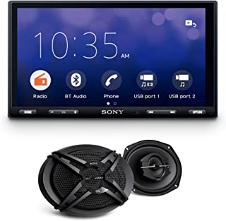 "Sony XAV-AX5500 Apple Car Play, Android Auto, Bluetooth Media Receiver with WebLink Cast, 6.95"" (17.6cm) Display. Free Son..."