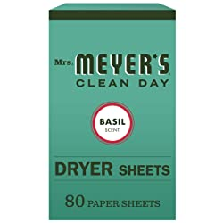 Mrs. Meyer's Clean Day Dryer Sheets, Basil, 80 ct