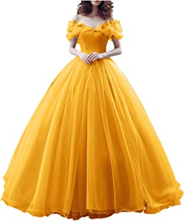 Best off the shoulder yellow ball gown Reviews