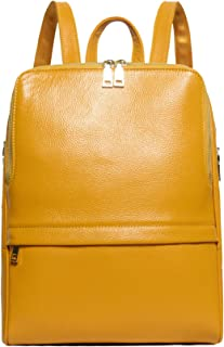 Hot Style Women Real Genuine Leather Backpack Fashion Bag (Golden yellow)