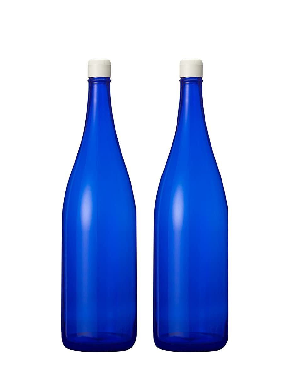 鎮静剤品種ブランチブルーボトル ガラス製一升瓶 1800ml (2本)