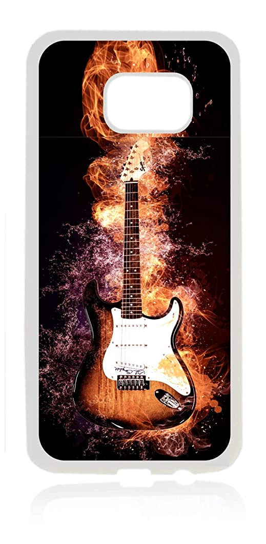 Smoking Electric Guitar White Rubber Thin Case Cover for The Samsung Galaxy s6 - Samsung Galaxy s6 Accessories - s 6 Phone Case