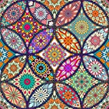 5D Full Drill Diamond Painting Kit, DIY Round Diamond Rhinestone Painting Kits Painting Cross Stitch Embroidery Pictures Arts Craft for Home Wall Decor Mandala Flower (11.8x11.8 Inch)