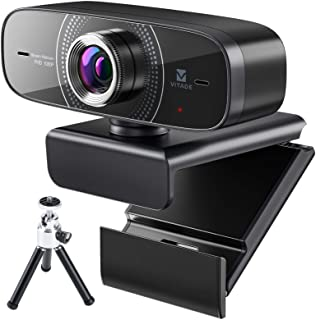 Webcam 1080P with Microphone HD Web Cam 30fps, Vitade 826MT USB Computer Web Camera Cam for Streaming Gaming Conferencing ...