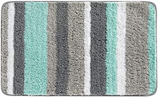 mDesign Soft Microfiber Polyester Non-Slip Spa Mat, Plush Water Absorbent Accent Rug for Bathroom Vanity, Bathtub/Shower -...