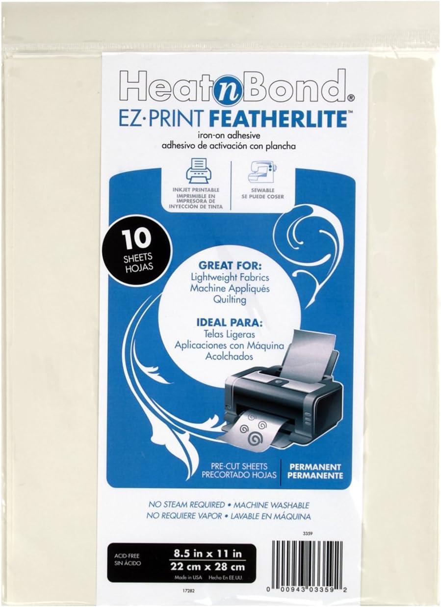 Heat'N Bond Ez-Print Max 78% OFF Featherlite Adhesive-8.5x11 Ranking TOP12 Pkg Iron-On 10