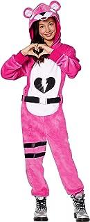 Girls Fortnite Cuddle Team Leader Plush Costume   Officially Licensed