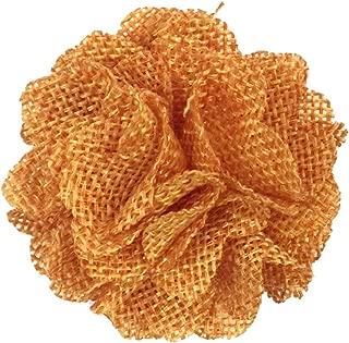 orange burlap flowers