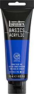 Liquitex BASICS Acrylic Paint, 4-oz tube, Cobalt Blue Hue