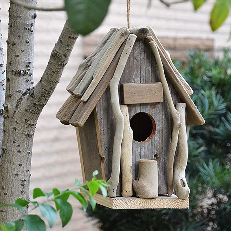 DJDLLZY Birdhouses Wooden Outside Hanging Garden Soldering Max 63% OFF House Bird for