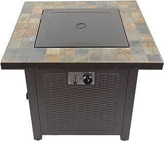 Hiland  GFT-60843 High Output Propane Fire Pit, 50,000 BTU w/Amber Fire Glass Included, 30