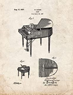 Piano Patent Print Old Look (5