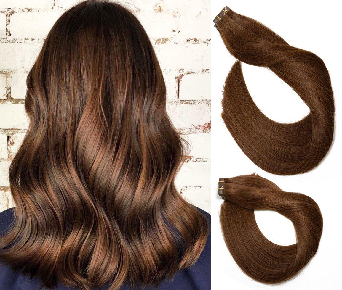 Tape In Remy Human Hair Ranking TOP10 Extensions 20pcs Per #4 Set Ranking TOP14 B Medium 30g