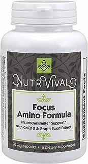 Nutrivival Focus Amino Formula Aids in Alertness and Mental Acuity* 90 Vegetarian Capsules