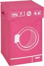 Honey-Can-Do Hmp-04287 Washer Graphic Hamper, Pink, 14 By 23-Inch