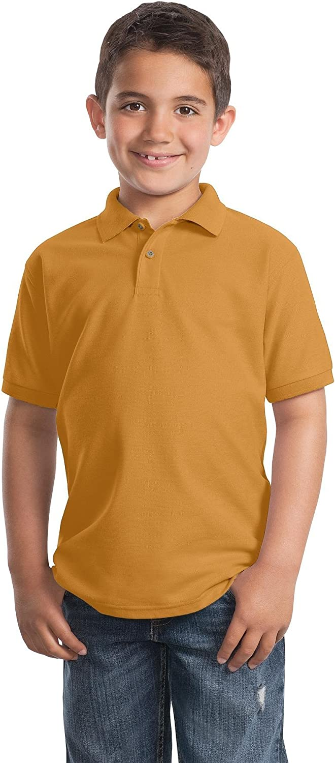 Port Authority Youth Silk Touch Polo. Y500 Gold L