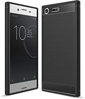 Sony Xperia XZ Premium case, Carbon Fiber Design Flexible Soft TPU Case Highstrength Shockproof Protective Back Cover to P...