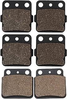 Cyleto - Pastillas de freno delanteras y traseras para LTZ400 LT-Z400 2003 2004 2005 2006 2007 2008 2009 2010 2011 2012
