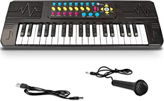 SAOCOOL Kids Piano for Toddler, 37 Keys Keyboard Piano for Kids with Built-in Microphone, Best Birthday Gifts for 3-10 Years Old Girls and Boys (Black)
