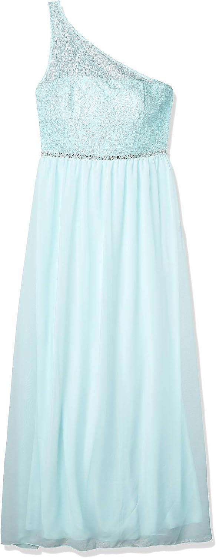 Speechless Juniors One Shoulder Illusion Long Prom Dress