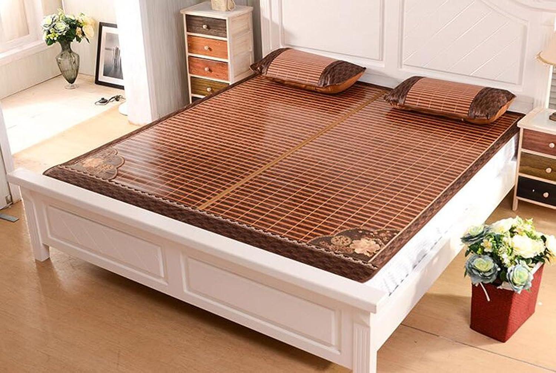 Tapis de lit d'été Tapis en bambou pliant double face Mats1.8m 1,5 m. Mat mat en bambou d'été (taille   1.5m1.95m)