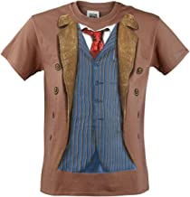 Doctor Who Classic Mens T-Shirt 10Th Doctor Costume