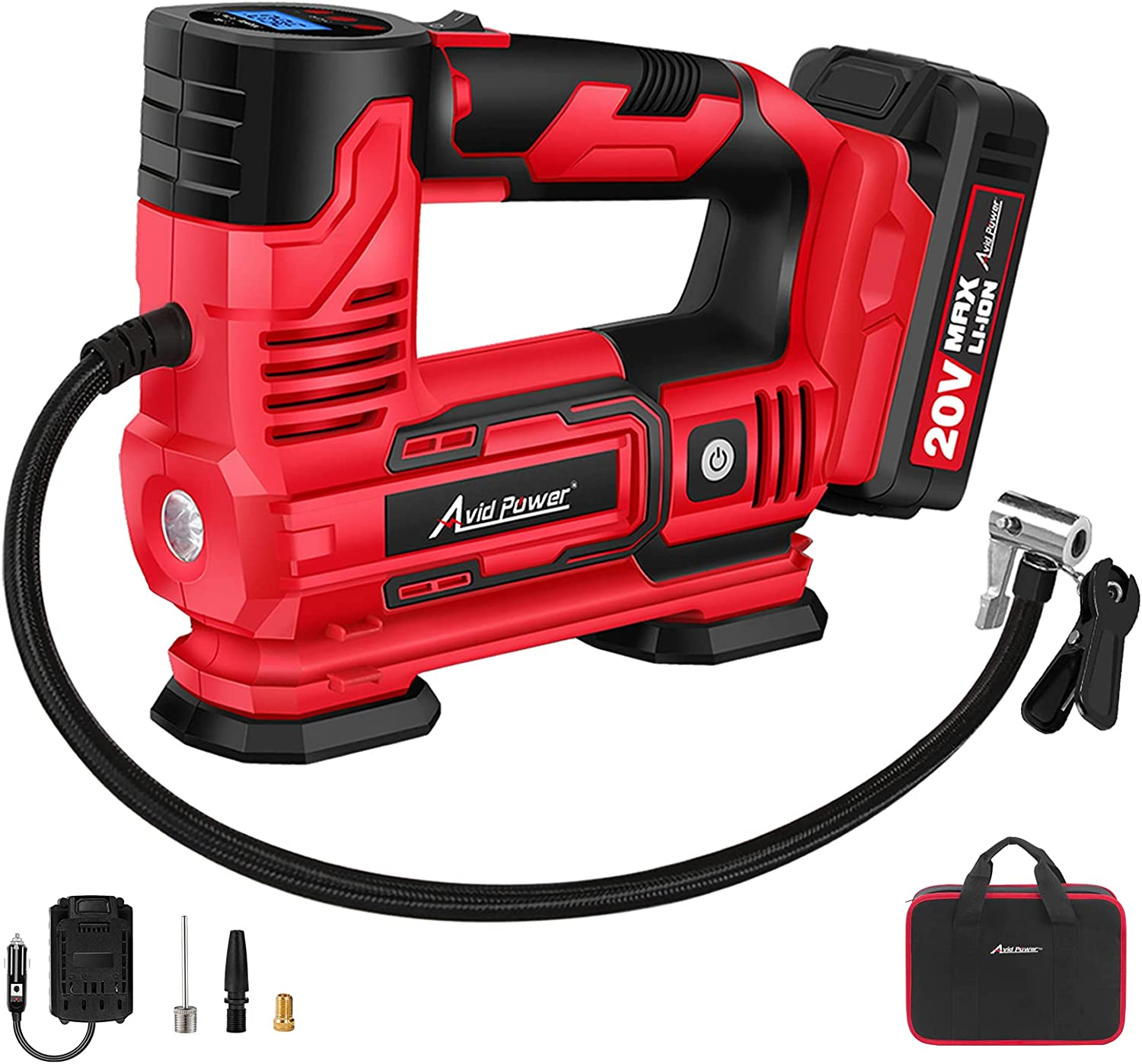 AVID Large special price !! POWER Tire Inflator Portable 20V C Compressor Air Cordless Oakland Mall