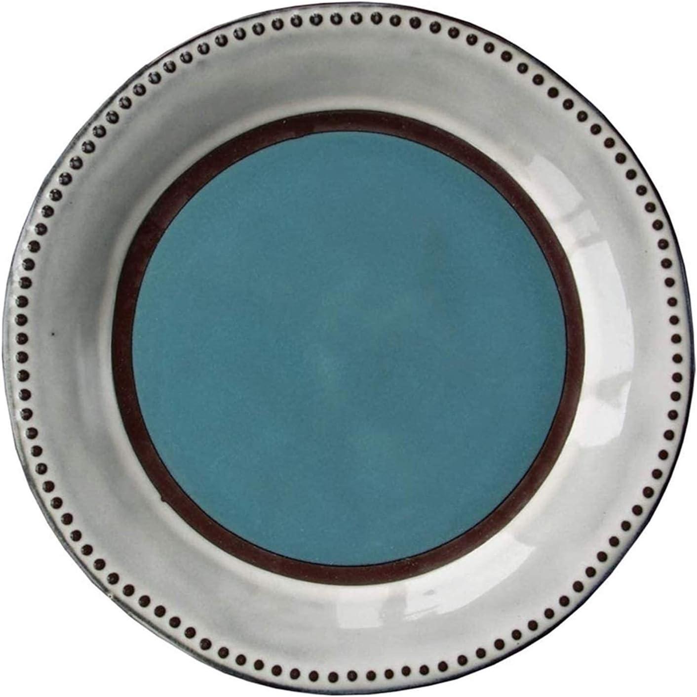 Water Drop Petals Plate Porcelain Dinner Blue Dedication Pl Large discharge sale Home Restaurant