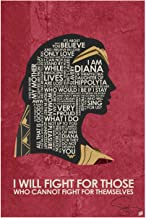 Authentic Autographed Wonder Woman, I Will Fight Art Print Signed by Artist Stephen Poon