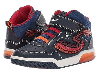 Geox Kids Jr Inek 7 (Little Kid/Big Kid) (Navy/Red) Boys Shoes