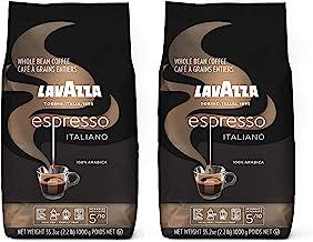 Lavazza Caffe Espresso Italiano Whole Bean Coffee Blend, Medium Roast, 2.2-Pound Bag (Pack of 2)